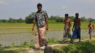 Villagers in Kalirhat village