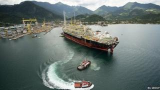 Oil and gas production and storage vessel in Brazil