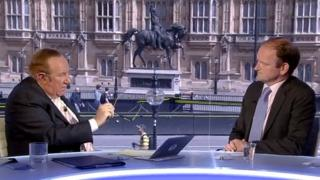 Douglas Carswell being interviewed by Andrew Neil on the Sunday Politics