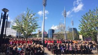 Memorial service at Centenary Square