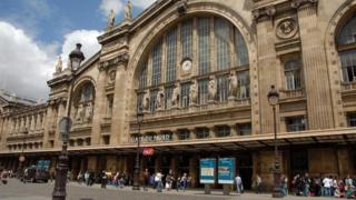 Gare du Nord, Paris where the Eurostar passenger train arrives and departs to London.
