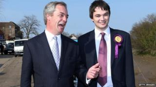 Nigel Farage with Robin Hunter-Clarke