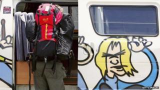 A backpacker in his van in Australia