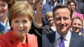 nicola strugeon and david cameron