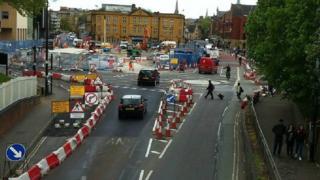Roadworks on Frideswide Square