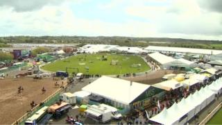 The Balmoral Show is now held on the site of the old Maze prison