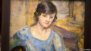 Barbara Hepworth painting