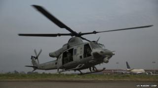 A US Marine Corps UH-1Y