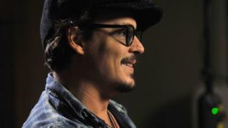 Actor Johnny Depp during the filming of a pre-recorded interview for the BBC's current affairs programme the Andrew Marr Show