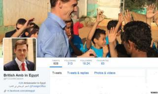 Ambassador Casson's profile on twitter