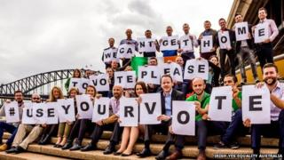 Irish emigrants abroad have used social media to encourage people in their homeland to vote on 22 May