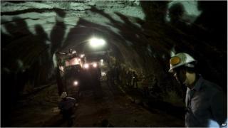 Digging tunnel in Brazil