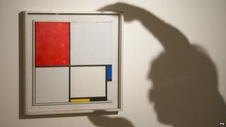 Mondrian's Composition No. III, with Red, Blue, Yellow, and Black
