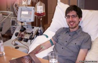 Jeremy Brice donating cells