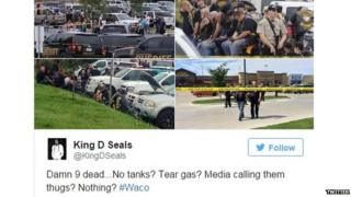 Collection of photos from the Waco shooting