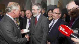 Prince Charles and Gerry Adams