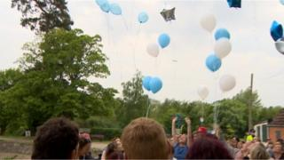 Balloons released in memory of Alison Connolly