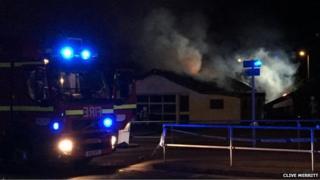 Fire at former TC Motors premises