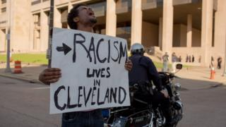 Protesters took the streets of Cleveland over the weekend after a police officer was acquitted in a manslaughter case