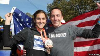 Kara and Adam Goucher were both former Oregon Project athletes