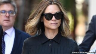 "Bianca Rinehart, the daughter of mining billionaire Gina Rinehart Australia""s richest person, arrives at the Federal Court, in Sydney, 27 April 2015."
