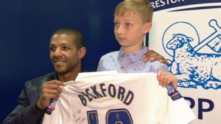 Jermaine Beckford with Ted Dockray