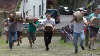 Gold Hill Cheese race