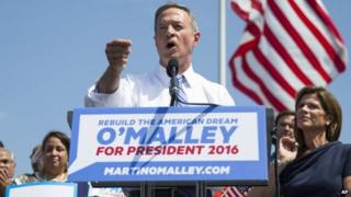 Martin O'Malley announces that he is entering the Democratic presidential race on Saturday, 30 May 2015 in Baltimore
