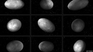 Illustrations of Plutos moon Nix