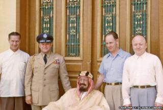 Ibn Saud and attending physicians