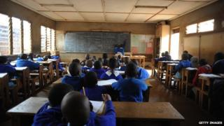 Children in classroom in Nairobi