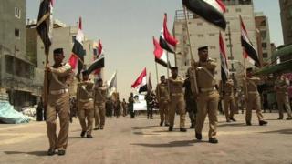 Shia militia funeral in Najaf