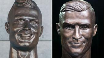 تمثالان لرونالدو