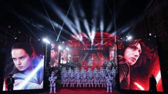 """صورة من الافتتاح الأوروبي """"حرب النجوم: الجيداي الأخير"""""""