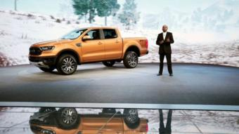 شركة فورد تعرض شاحنة النقل رانجر 2019.