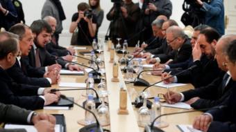وفد المعارضة السورية اجتمع مع سيرغي لافروف لبحث الحوار