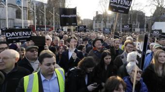 مظاهرة ضد معاداة السامية في لندن