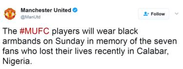 A screenshot of a tweet by Man United