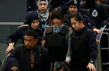 Vietnamese Doan Thi Huong, who is on trial for the killing of Kim Jong Nam, the estranged half-brother of North Korea