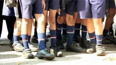 School children in Kerala