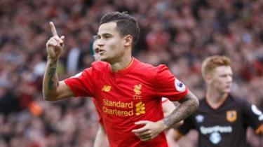 Philippe Coutinho ni miongoni mwa wachezaji wanaoipaisha Liverpool kwa sasa