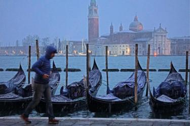 Snow in Venice, 10 Dec 17