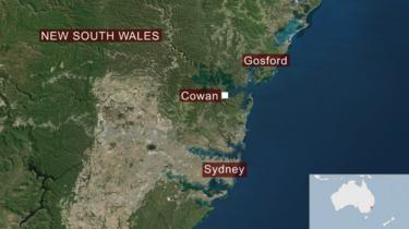 map of New South Wales, showing Cowan north of Sydney