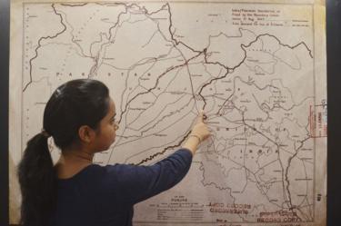 Mapa de la frontera original de 1947