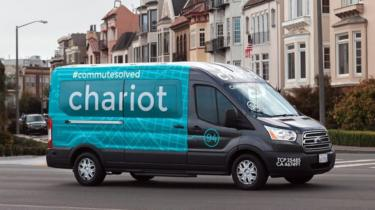 Chariot's fleet is made up of Ford Transit vans