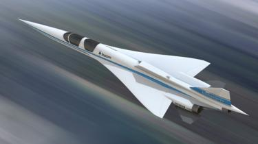 An artists` rendition of Boom`s one-third scale demonstrator XB-1