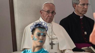 El Papa Francis participa en un Encuentro Nacional de Reconciliación en el Parque Las Malocas en Villavicencio, Colombia, 8 de septiembre de 2017