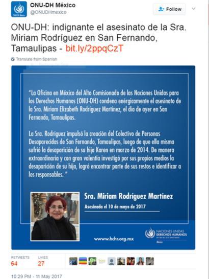 UN Mexico tweet