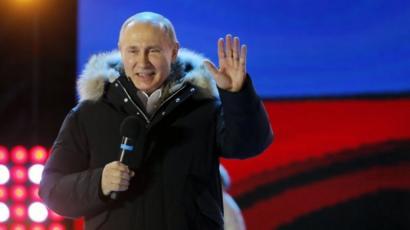 بوتين بعد إعلان فوزه في الانتخابات