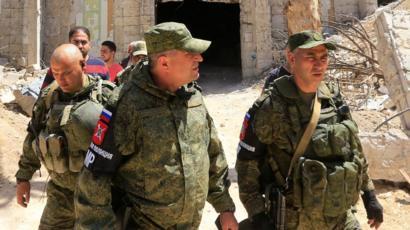 قوات روسية في دوما